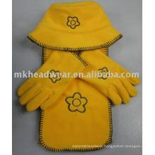 Fashion Polar Fleece hat, scarf, gloves set