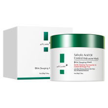 OEM Private Label Crystal Waters Salicylic Acid Gel Mask Facial Shrink Pore Water Sleeping Overnight Mask