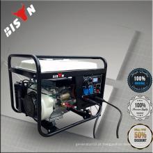 BS6500WGDP Branco BISON China Taizhou 5kva12v Gerador de motor portátil de gasolina Máquina de solda Máquina de solda de dupla utilização