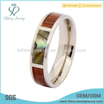 Argent anneau d'ormeaux bijoux en titane en bijoux, bijoux en bois