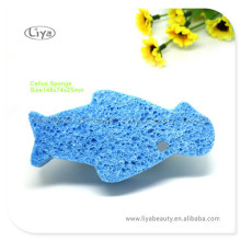 Cute Fish Shape Face Wash Sponge