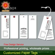 2014 Fabrikpreis angepasst verschiedene Form Papier Karton hängen Tag Kleidungsstück hängen Tag