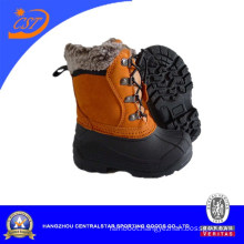 Fashion Blue Oxford Waterproof Kids Winter Snow Boots