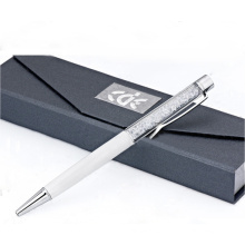 Beautiful Colorful Crystal Metal Ball Pen with Gift Box