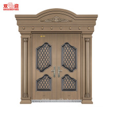 steel grill door design exterior position double entrance door with door handle stainless steel