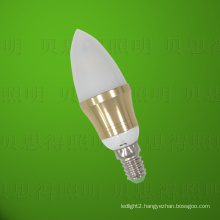 Golden Cuspidal LED Bulb Light 4W Die-Casting Aluminum