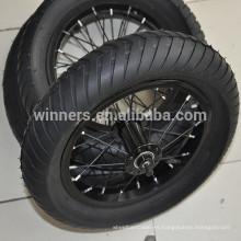 "Rueda de bicicleta anodizada de 12,5 ""x 3"" de ancho con ruedas inflables de aluminio"