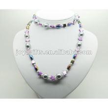 Mode Hämatit Wrap mit lila Stern Perle Shell