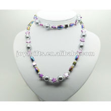 Fashion Hematite Wrap With Purple Star Pearl Shell