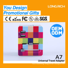 LongRich Travel Adapter A7 for promotional gift company with customize design