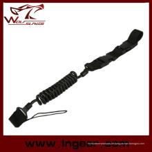 Taktische elastische Kraft Gewehrriemen für Pistole Sling Sicherheit Seil schwarz