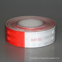 Etiqueta engomada blanca roja de la cinta reflectante de la venta caliente para el camión