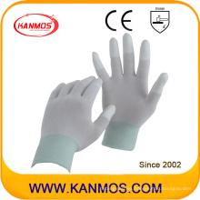 Anti-Static Nylon tejidos PU sumergido guantes de trabajo de seguridad industrial (54001)