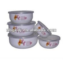 наборы эмалированной посуде с крышкой PP