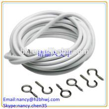 Чистый провод занавеса Белый провод кабеля кабеля с крючками и глазами