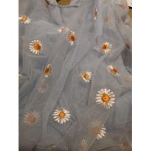 Tote Mesh Cloth Embroidery Handbag Purse For Girls