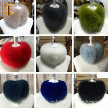 Round Circular Neck Fur Scarf Real Blue Fox Fur Muffler Scarves Fashion