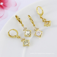 Xuping Own Brand 14k Gold Color Elegant Zircon Fashion Earring (22783)