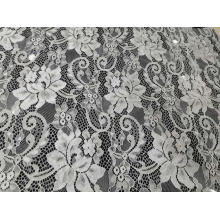 Popular Nylon Flower Pattern Lace Fabric