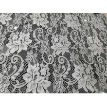 Tissu de dentelle de motif de fleur en nylon populaire