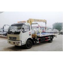 Camión de auxilio 4x2 Drive Dongfeng remolque de carretera con grúa 3.2T para elevación de coche pequeño