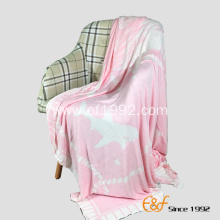 Cellulose Fiber Double Color Jacquard  Throw Blanket
