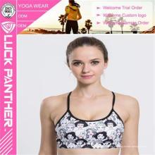 Sutiã acolchoado de apoio impresso personalizado dos esportes Cheerleading
