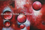 Group abstract oil painting