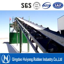 Correia transportadora resistente ao calor do cabo de aço / fabricante de borracha do preço da correia transportadora