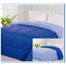 Reversible solid color modern 2 color queen size bed comforter
