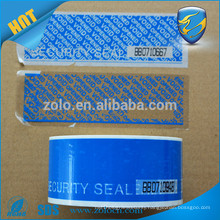 Tamper evident security tape with perforation line