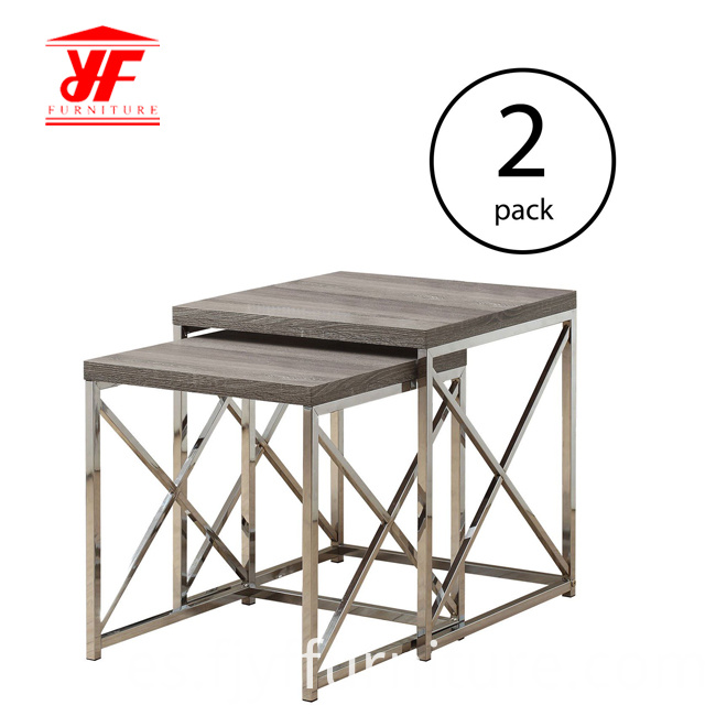 Metal Leg Side Table