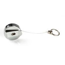 Steel cord retractable pull key holder badge reel key reel