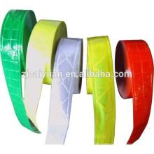 Différentes couleurs PVC Ruban réfléchissant coudre sur vêtements, casquettes etc.