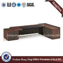 Popular Steel Leg L Shape Modern Office Desk (HX-6M129)