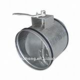 Round in line air damper/volume control damper