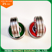 Red Plastic Seal Bearing 608-2RS with Double Grooves