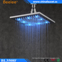 New Bathroom Square Brass 10′′ Waterfall LED Light Shower Head
