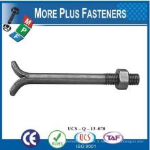 Fabriqué en Taiwan Acier au carbone DIN 529A 529C 529E Bâton de base de maçonnerie avec écrou hexagonal