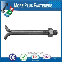 Made in Taiwan Carbon Steel DIN 529A 529C 529E Anchor Masonry Foundation Bolt With Hex Nut