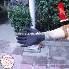 Nmsafety 13G forro de HPPE mergulhado nitrilo Anti corte anti impacto luvas de trabalho TPR