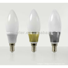 New Aluminum body E27 e26 b22 e14 dimmable led candelabra bulb