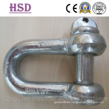 Shackle, D Type DIN82101, European Larg Dee Shackle, JIS D Type Shackle, Us Type Forged Shackle