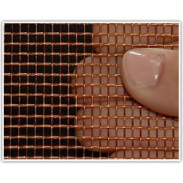 Malha de arame de latão tecido em material de cobre