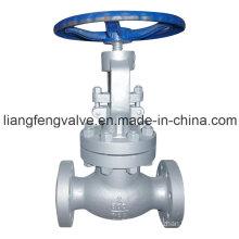 Válvula de globo de extremidade de flange de aço carbono