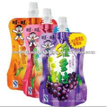 Wählbarer Fruchtsaft Spezieller, gut aussehender Auslauf Design Laminiertes Material Doypack Auslauf-Verpackungsbeutel
