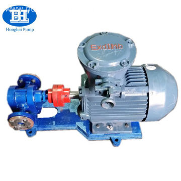 Electric motor driven horizontal lube oil transfer pump