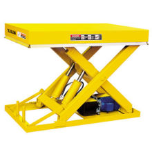 Stationary Hydraulic Electric Lift Table, Used as Feeding Table on Assembly Line