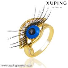 Мода очарование 14k золото гальваническим CZ имитация глаз кольцо ювелирных изделий -13746 палец