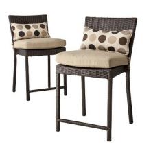 Taburete silla de jardín de mimbre de la resina Patio muebles rota Bar al aire libre